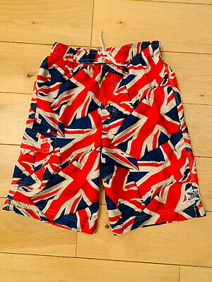Boys Union Jack Swim Shorts By TU Age 7 Years. VGC. • 3£