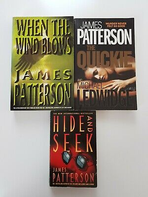 AU27 • Buy JAMES PATTERSON Novels Books X 3 Murder Mystery | Quickie Wind Blows Hide & Seek