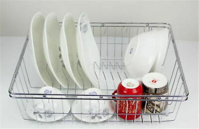 AU19.99 • Buy Chrome Kitchen Dish Rack Cutlery Utensil Caddy Drainer Drying Tray $29.99