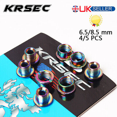 KRSEC 4/5PCS Bike Chainring Bolts Single/Double/Triple Speed Chain Ring Screws • 5.74£
