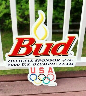$ CDN44.31 • Buy Vintage Tin Metal Budweiser Beer Sign Bud RARE 2000 Atlanta USA Olympic Team
