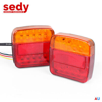 AU17.99 • Buy LED TRAILER TAIL LIGHT KIT PAIR High Visibility Taillights Water Proof
