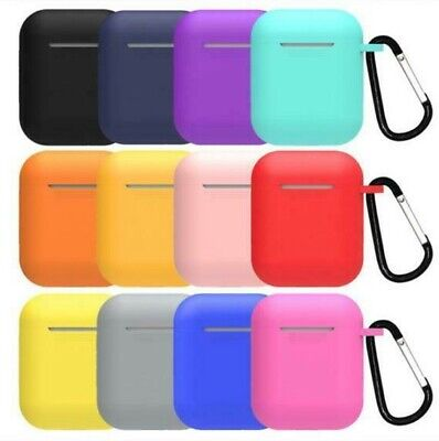 $ CDN4.56 • Buy Silicone Protective Airpods Case Slim Skin Cover For Apple AirPod Earphones