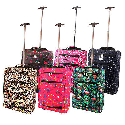 Cabin Case Airline Approved Lightweight Hand Wheels Handle Luggage Travel Bag • 12.99£