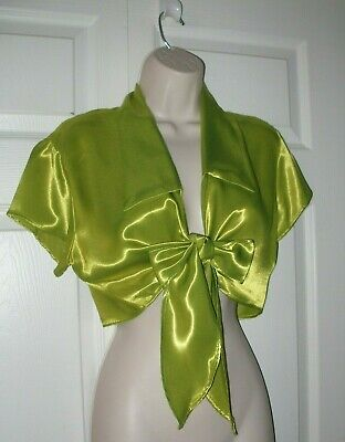 Helium Women's Lime Green Large Top Sleeveless Top String Tie Front New  • 18.09£
