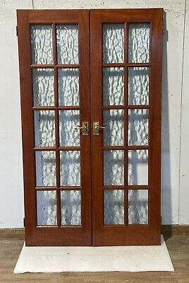 Wooden Internal Timber French Doors-distorted-wide-brown-single Glazed-interior • 199.98£
