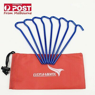 AU8.79 • Buy 8Pcs 18cm Aluminum Alloy Outdoor Camping Tent Peg Ground Nail Stakes