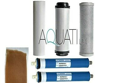 200GPD (2x100GPD) Reverse Osmosis RO Water Filter Replacement 5 Stage System DI • 49.95£