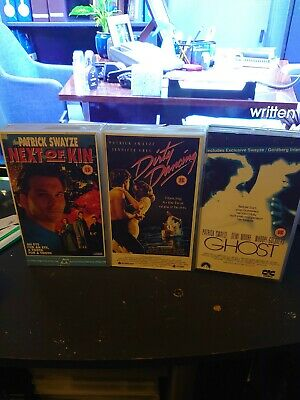 £6 • Buy Next Of Kin - Ghost - Dirty Dancing - 3 Vhs Collection - Patrick Swayze