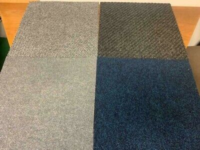 Mixed Carpet Tiles 20 Assorted Colours And Styles Office Floor Home School Mat  • 20£
