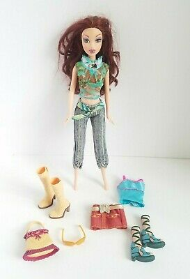 $29.99 • Buy Rare My Scene Chelsea Barbie Doll Shopping Spree Set Lot 2004 Clothing Red Hair