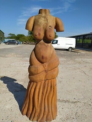 Sale Sussex Chainsaw Elm Female Nude Carving   Home Garden Rustic Sculpture  • 400£