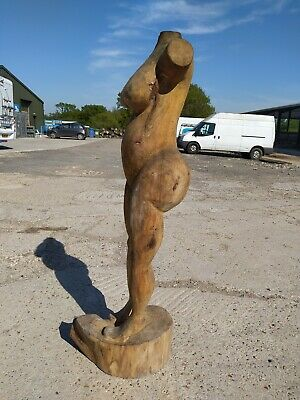 Sale Sussex Chainsaw Elm Female Nude Carving   Home Garden Rustic Sculpture  • 200£