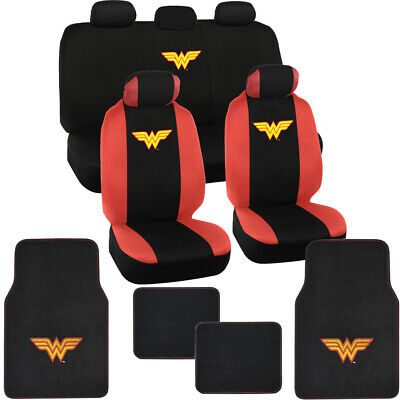 $54.50 • Buy Licensed Wonder Woman Car Floor Mats And Seat Covers For Auto Accessory Gift Set