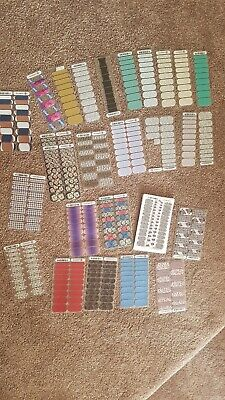 AU45 • Buy Jamberry Nail Wraps Parcial Sheets Bulk Lot Mixed Designs