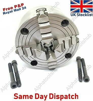 100MM 4 Jaw Independent Lathe Chuck 4  Front Mount + Key • 69.99£