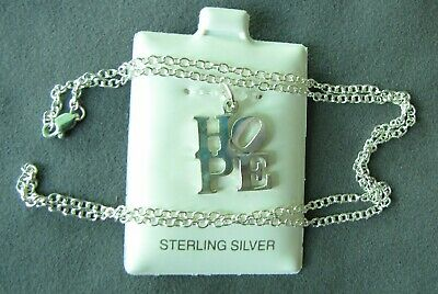 $19.80 • Buy Official 2008 Obama HOPE Charm - 925 Sterling Silver  Robert Indiana & 18  Chain