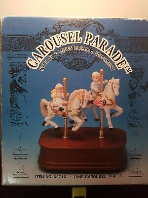 $14.99 • Buy Nib,  Impulse Giftware Carousel Parade With Two Horse Movement Music Box
