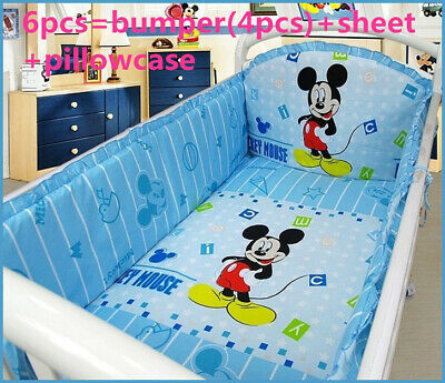 £43.42 • Buy Mickey Mouse Crib Baby Bedding Cribs For Babies Cot Bumper Bed Around Piece Set