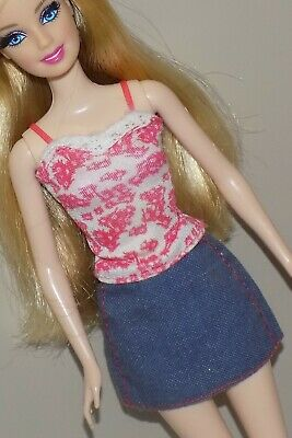 $6.50 • Buy Barbie Outfit Lace Cami Top Jean Skirt Fits Fashionista Model My Scene Liv Doll