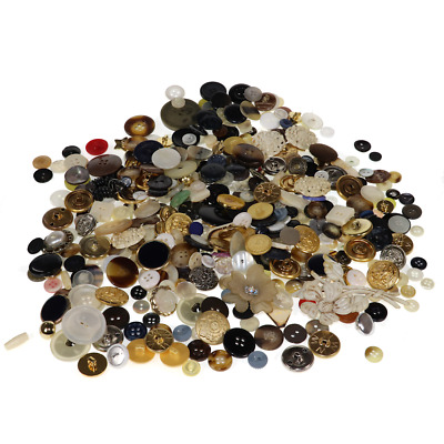 $ CDN25.36 • Buy LOT 13 Oz Vintage Buttons - Lots Of Color Quilting Sewing Jewelry Crafts