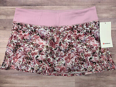 $ CDN100.54 • Buy NWT LULULEMON Play Off The Pleats Skirt - Size 10,  Blossom Spritz BDZT/PKCK