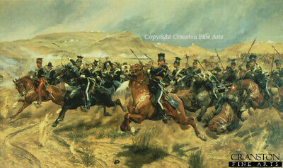 Crimean War Military Art Print The Charge Of The Light Brigade Caton Woodvill • 38£