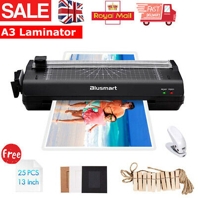 £19.89 • Buy A3/A4 Laminator Machine Hot / ColdRoller & Laminating Pouches & Paper Trimmer