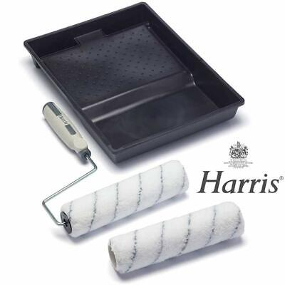 Harris 9  Paint Roller Set Complete Decorating Kit With 2 Sleeves Tray Roller • 7.95£