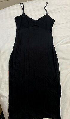 AU9 • Buy Kookai Dress Black Midi Bodycon Size 2 ( With Gap) - Pre Owned SOLD OUT