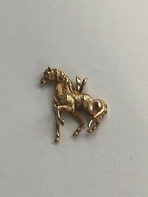 $365 • Buy 14k Yellow Gold Diamond Horse Pendant / Charm