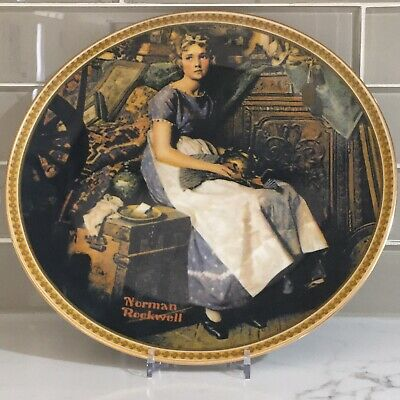 $ CDN9.99 • Buy Norman Rockwell Plate By Edwin M Knowles  Dreaming In The Attic  Limited Edition