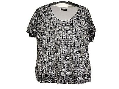 £16 • Buy Forever  By Michael Gold Ladies Top Size XL Navy & White