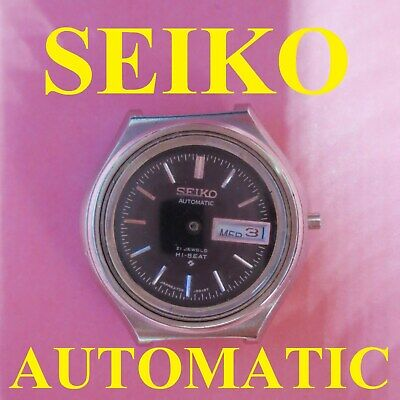 $ CDN27.89 • Buy Seiko 2706 0010 Movement Automatic Day Date Old Wrist Watch X Parts Not Working