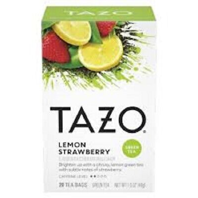 Tazo Green Tea Lemon Strawberry Flavored 20 Filterbags Best By Date 07/2021 • 6.26£