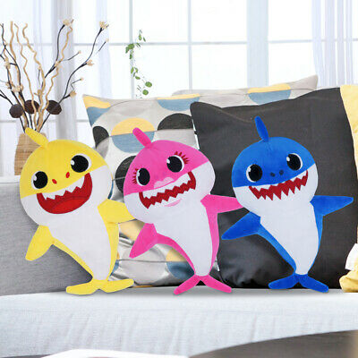 $14.79 • Buy 12  Soft Cute Shark Toys Plush Singing Music Shark LED Baby Gift USA SELLER
