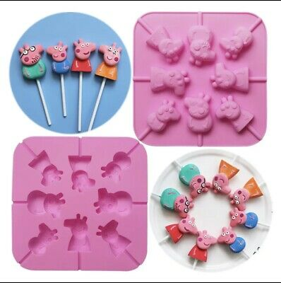 Peppa Pig Lollipop / Candy Chocolate Silicone Mold Silicon Form! • 4.99£
