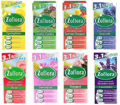 £5.95 • Buy Zoflora Concentrated Disinfectant Kills Germs Anti Bacterial Clean