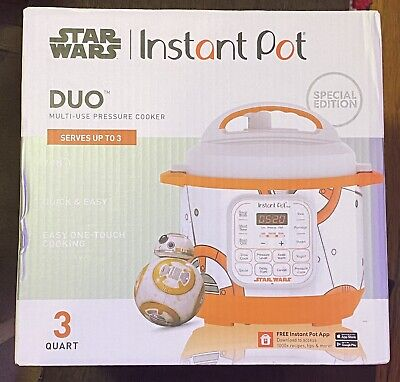 $129.99 • Buy Star Wars Instant Pot 3 Quart Pressure Cooker Bb-8 Ideal Gift Free Shipping Nib