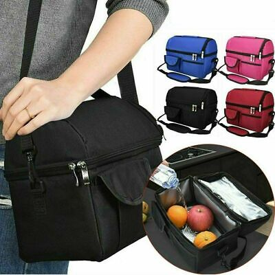 AU17.99 • Buy 8L Insulated Lunch Bag Cooler Box Storage Portable Thermal Carry Tote Picnic Bag