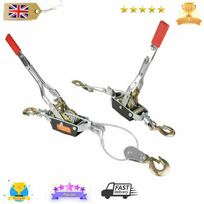 £24.50 • Buy Steel Construction 4 Ton Heavy Duty Cable Puller Hand Winch Turfer For Car