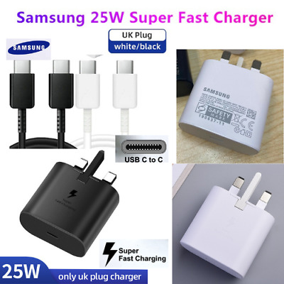 GENUINE SAMSUNG SUPPER FAST CHARGER & CABLE USB Type C To C For Note10 S20 Ultra • 13.99£