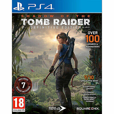 Shadow Of The Tomb Raider Definitive Edition (PS4) Lara Croft New And Sealed • 16.75£