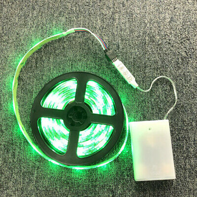 $13.99 • Buy 9FT 5V 5050 RGB Battery Powered Flexible LED Strip Lights TV Back Light Portable