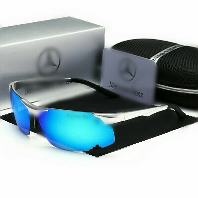 Mercedes Men's Polarized Sunglasses UV Protection Al-Mg Metal Frame Ultra Light • 19.99£