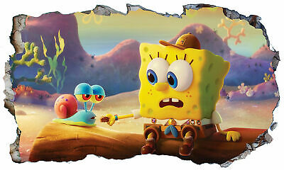 SpongeBob SquarePants 3D Magic Window Wall Art Sticker Self Adhesive Vinyl V17* • 11£