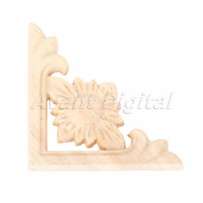 $3.67 • Buy Craft Rubber Wood Carved Decor Woodcarving Onlay Decal Mouldings Wall Applique
