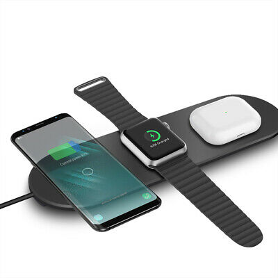 AU21.60 • Buy AU 15W Fast Qi Wireless Charger Charging Pad Mat 3in1 For IWatch IPhone 11 XS 8