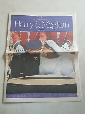 £5.99 • Buy The Times. The Royal Wedding Harry And Meghan May 19 2018. Souvenir Supplement.