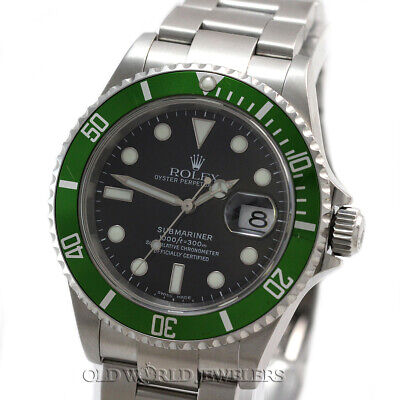 $ CDN18680.75 • Buy Rolex Submariner 16610V Anniversary Green Bezel Stainless Steel Box Papers 2005